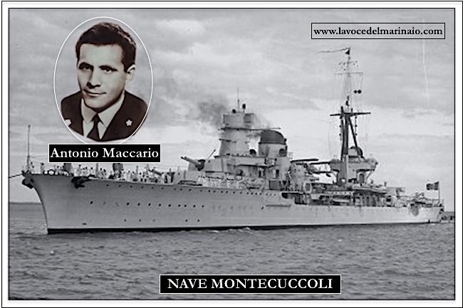 Antonio Maccario deceduto sull'incrociatore Montecuccoli il 16.7.1958 (f.p.g.c. Maurizio Defazio a www.lavocedelmarinaio.com)
