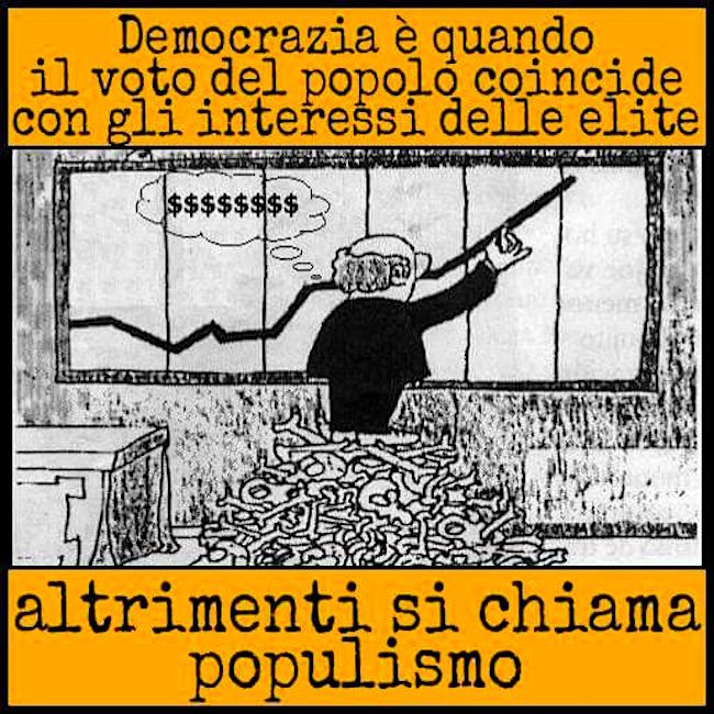 Populismo (vignetta da internet) - www.lavocedelmarinaio.com