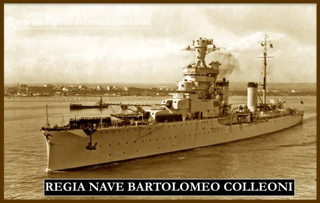 regio incrociatore Bartolomeo Colleoni - www.lavocedelmarinaio.com
