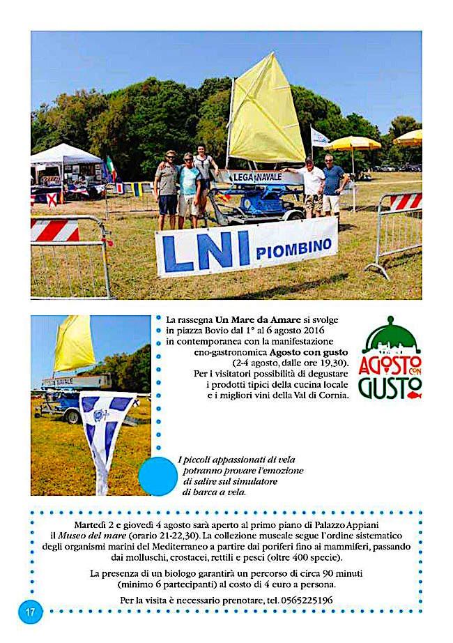 1-6.8.2016 a Piombino con la rassegna Un mare da amare - www.lavocedelmarinaio.com