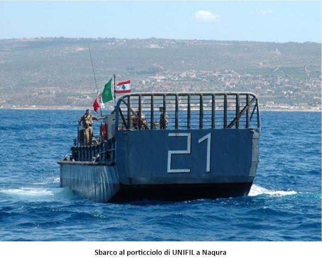 1. operazione Leonte - sbarco al porticciolo UNIFIL A Naqura