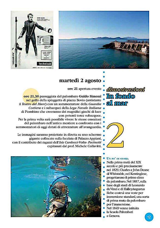 2.8.2016 a Piombino dimostrazioni in fondo al mar - www.lavocedelmarinaio.com