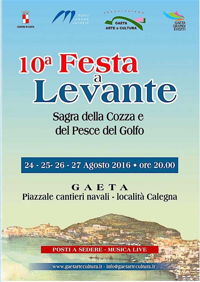 24-27.8.2016 a Gaeta Festa a Levante - www.lavocedelmarinaio.com