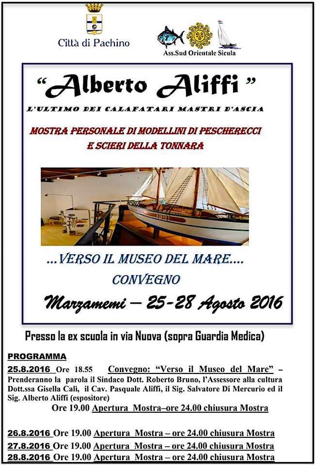 25-28.8.2016 a Pachino convegno Verso il museo del mare e mostra di modellismo di Alberto Aliffi - www.lavocedelmarinaio.com