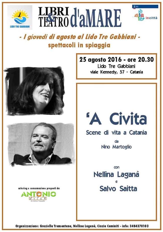 25.8.2016 a Catania Libri e teatro d'amare presenta a Civita - www.lavocedelmarinaio.com