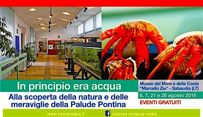 28.8.2016 a Sabaudia - In principio era l'acqua alla scoperta delle 21.8.2016 Palude Pontina - www.lavocedelmatinaio.com