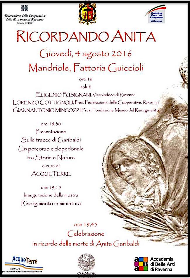 4.8.2016 a Ravenna ricordando anita garibaldi - www.lavocedelamrinaio.com