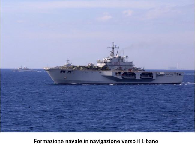 5. operazione Leonte formazione navale in navigazione verso il Libano