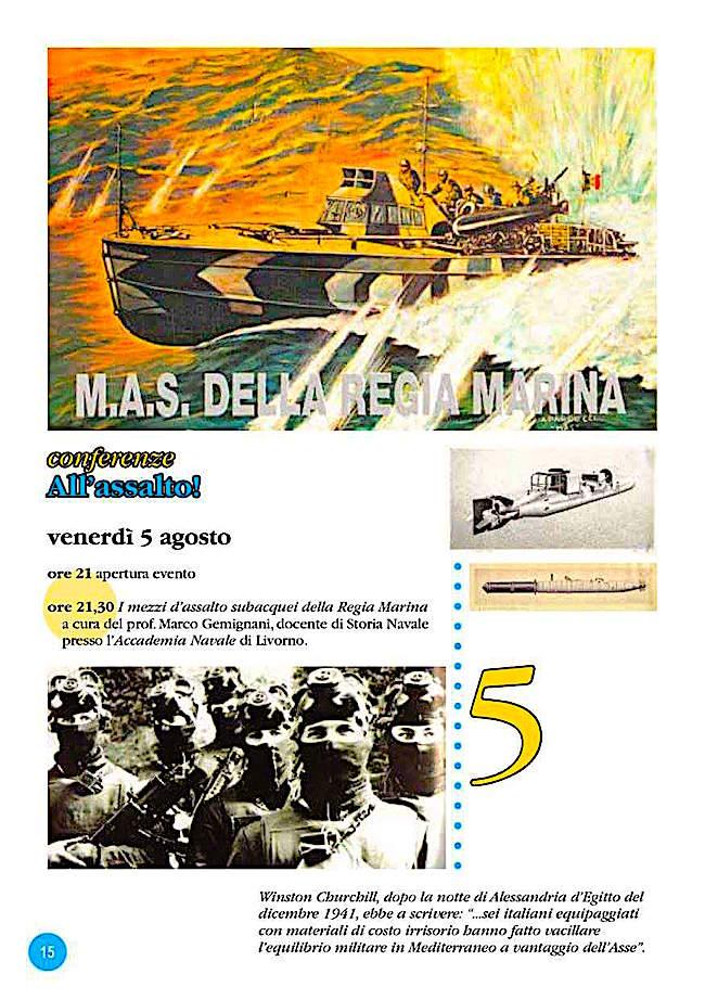 5.8.2016 a Piombino conferenza su Mas della regia marina - Assalto  - www.lavocedelmarinaio.com