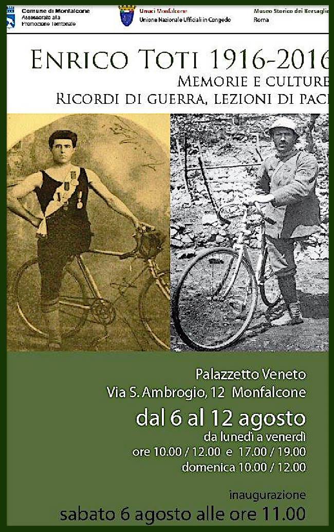6-12.8.2016 a Monfalcone mostra per celebrare Enrico Toti - www.lavocedelmarinaio.com