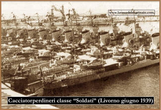 I 12 cacciatorpediniere della classe Soldati Livorno - giugno 1939) - www.lavocedelmarinaio.com