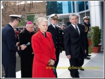La vedova Birindelli all'inaugurazione della sala dedicata a CINCNAV a Gino - www.lavocedelmarinaio.com