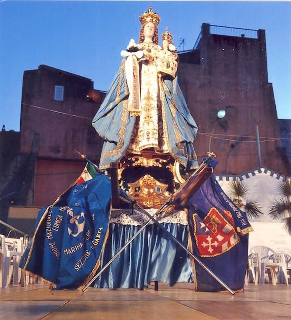 Maria di Porto Salvo e gli stendardi dI a.n.m.i. Gaeta