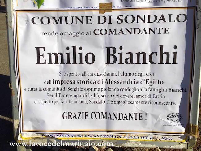 Necrologio Emilio Bianchi - www.lavocedelmarinaio.com
