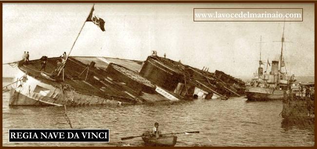 affondamento regia nave corazzata Da Vinci - www. lavocelmarinaio.com