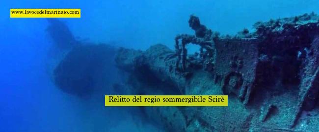relitto dello Scirè - www.lavocedelmarinaio.com