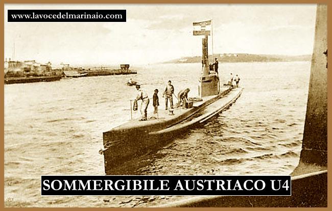 sommergibile austriaco U4 - www.lavocedelmarinaio.com