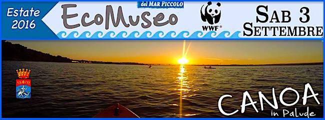 3.9.2016 a Taranto canoa in palude - www.lavocedelmarinaio.com