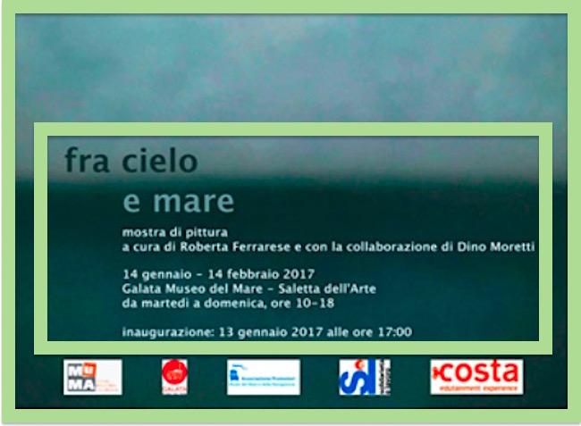 13.1.2017 a Genova inaugurazione mostra di pittura Fra cielo e mare - www.lavocedelmarinaio.com