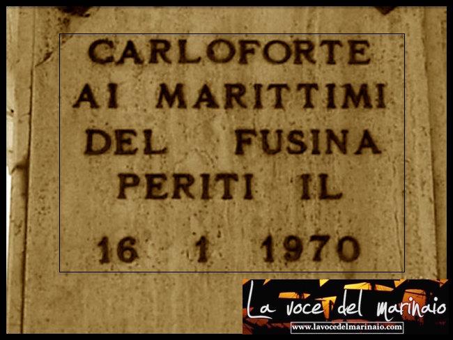 16.1.1970 ai caduti del fusina - www.lavocedelmarinaio.com