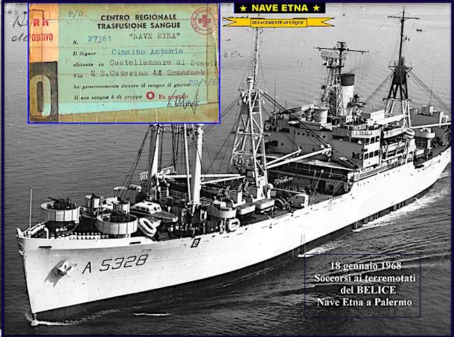18.1.1968 nave etna soccorso ai terremotati del belice - www.lavocedelmarinaio.com