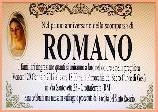 20.1.2017 a Grottaferrata messa in suffragio di Romano Fanelli - www.lavocedelmarinaio.com