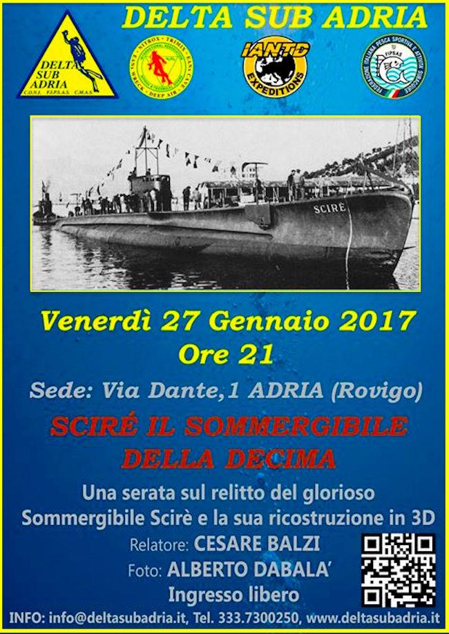 27.1.2017 a Rovigo Scirè il sommergibile della Decima - www.lavocedelmarinaio.com