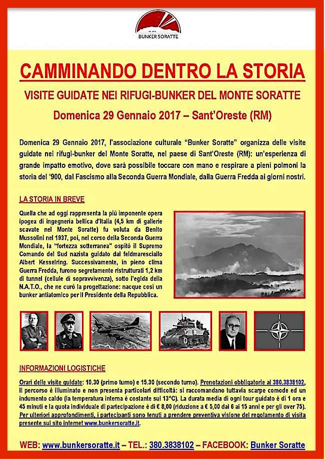 29.1.2017 a Sant'Oreste (RM) Camminando della la storia nel bunker del Monte Soratte - www.lavocedelmarinaio.com