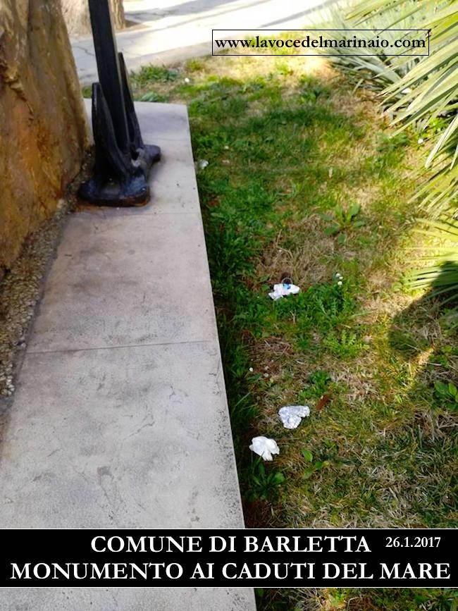 Barletta monumento ai Caduti del mare in abbandono - www.lavocedelmarinaio.com