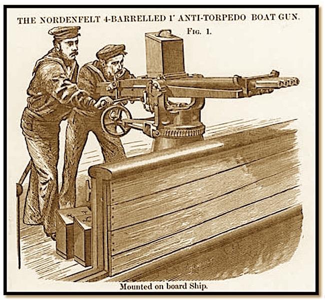 Cannone - mitraglia da 37 mm a 5 canne - www.lavocedelmarinaio.com