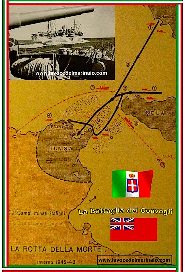 La rotta della morte nella battaglia dei convogli - www.lavocedelmarinaio.com