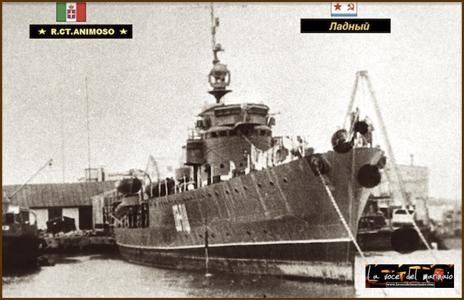 Regia nave Animoso poi Ladnyi e Cl.60 - www.lavocedelmarinaio.com