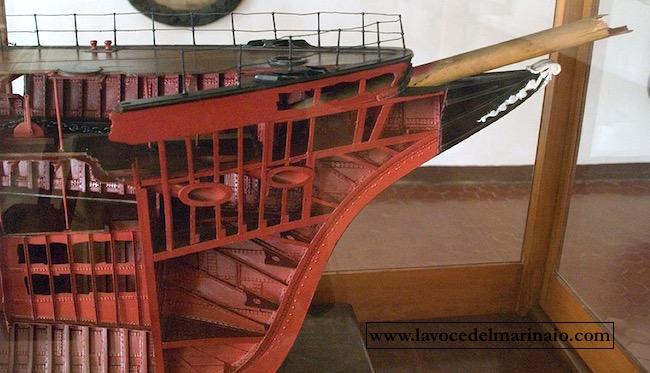 Regio incrociatore Flavio Gioia modellino presso il museo navale di Venezia - www.lavocedelmarinaio.com
