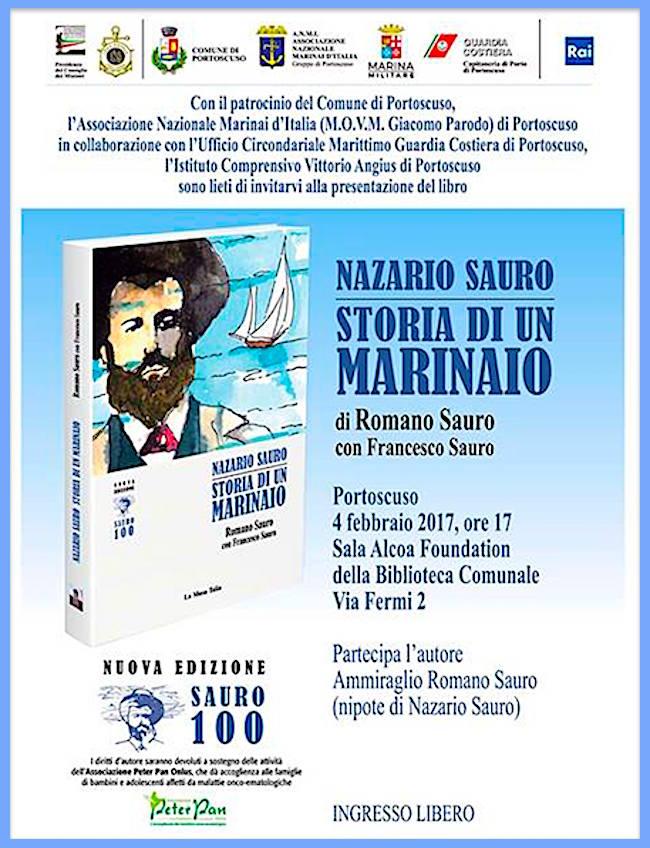 4.2.2017 a Portoscuso presentazione del libro Nazario Sauro storia di un marinaio - www.lavocedelmarinaio.com