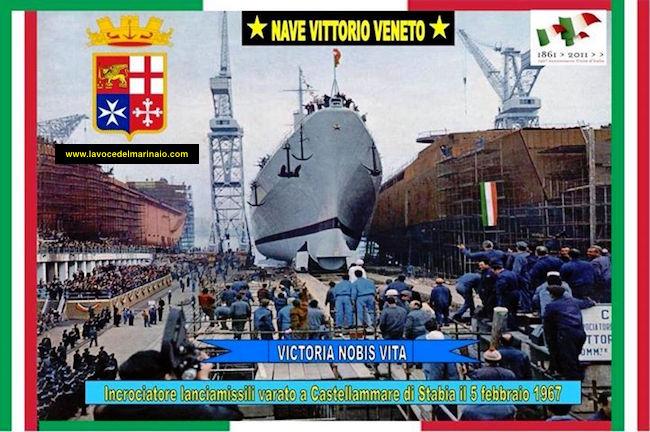 5.2.1967 varo Nave Vittorio Veneto presso i cantieri navali di Castellammare di Stabia - www.lavocedelmarinaio.com