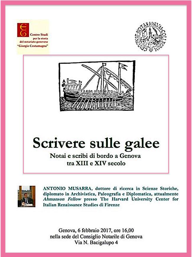 6.2.2017 a Genova Scrivere sulle Galee - www.lavocedelmarinaio.com