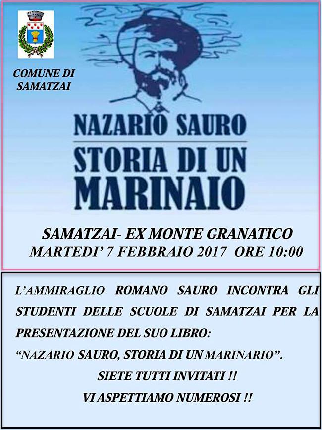 7.2.2017 a Samatzai presentazione del libro Nazario Sauro storia di un marinaio - www.lavocedelmarinaio.com