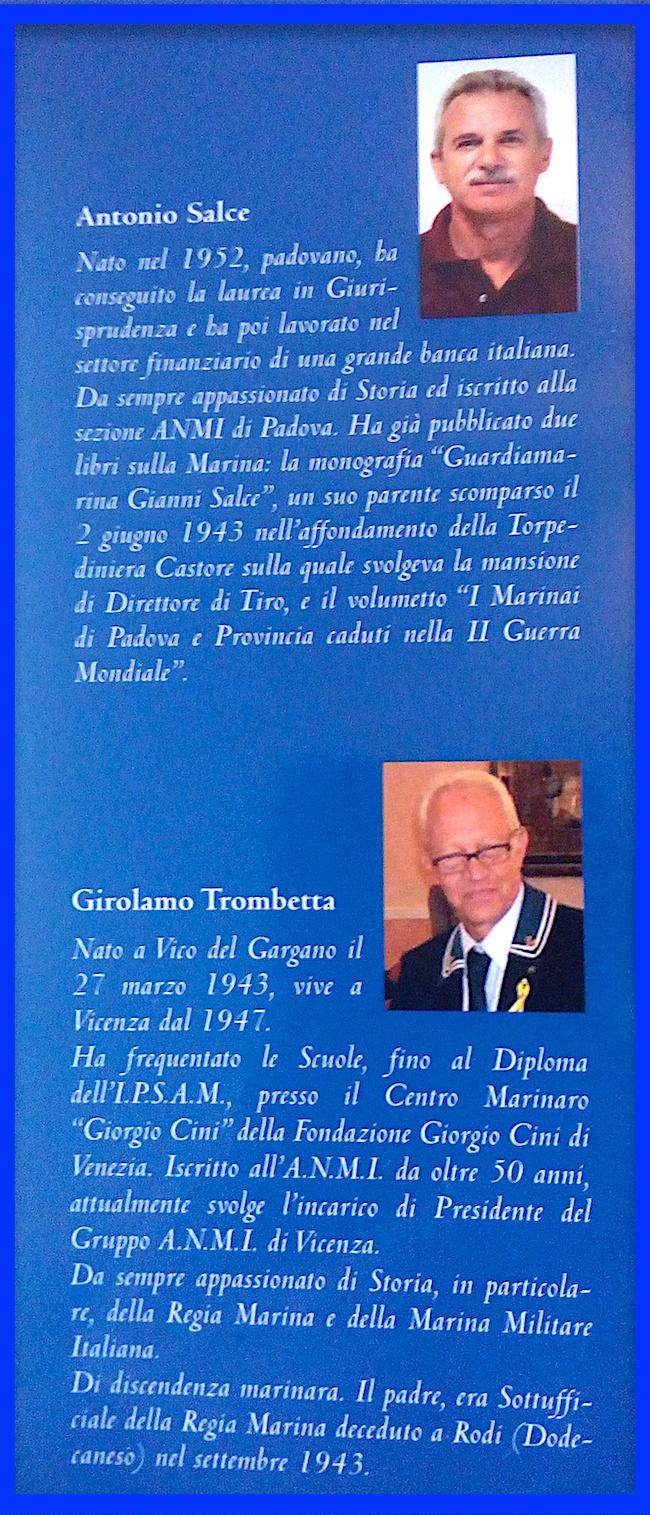 Antonio Salce e Girolamo Trobetta per www.lavocedelmarinaio.com