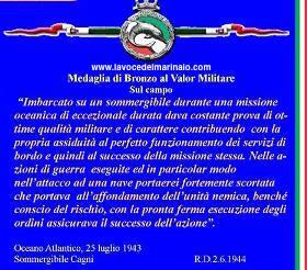 Attestato Medagliadi Bronzo al Valor Militare ad Amedeo Cacace - www.lavocedelmarinaio.com